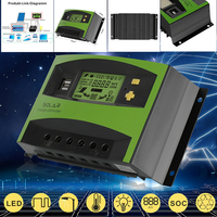 1Pc New 40A 12/24V MPPT Solar Charger Controller Solar Controller LCD Display PWM Solar Panel Controller Solar Home System