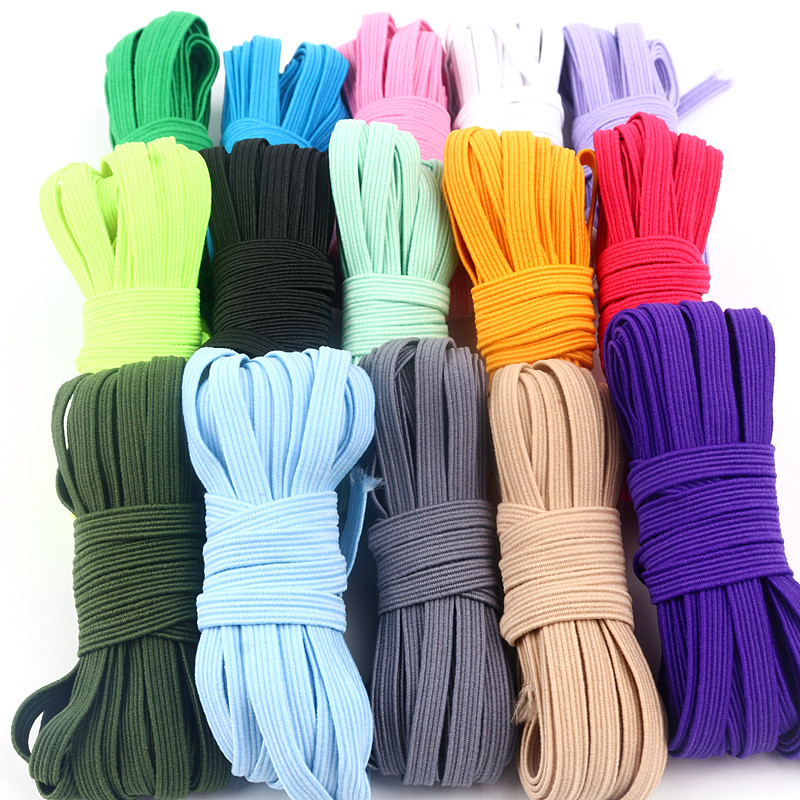 5m Elastic Elastic Band Color Sewing Household Rubber Band Polyester Elastic Band Garment Sewing Accessories Accessories 6mm