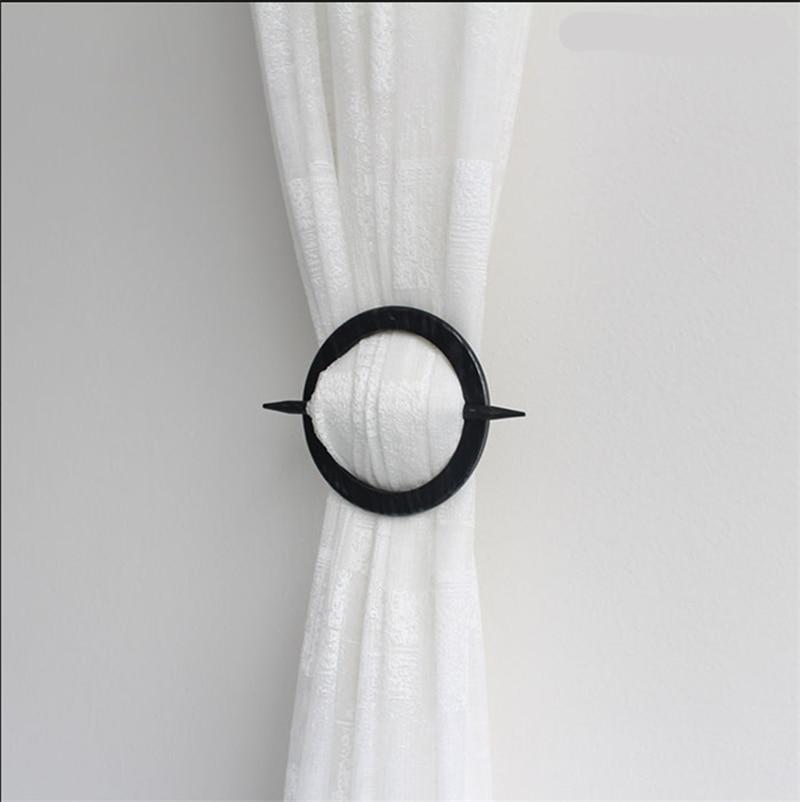 wood creative curtain holder cilp strap home decorative room accessories simple window buckle rope handmade curtain tieback