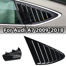 Side-Window-Vent-Cover Louvers Audi A7 Scoops Shutter Quarter Rear for 2009 Triangle