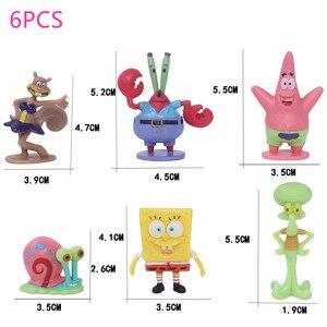 6/8 stuks Cartoon SpongeBob Pluchen Speelgoed Patrick Ster & Squidward Tentacles & Eugene & Sheldon & Gary Gevulde schattige Pop voor Kinderen Geschenken(China)