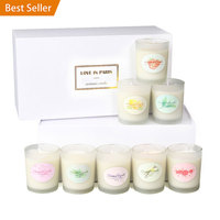 Amazon Hot Sales Fragrance Candle Dull Polish 8 Pieces Environmentally Friendly Smoke Free Soy Wax jing wu Essential Oil Candle