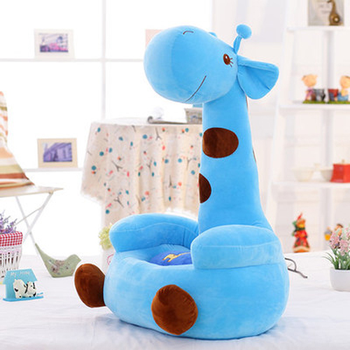 Children's Sofa Seat Lovely Baby's Bench Cartoon Lovely Giraffe Fluffy Lazy Bedroom Tami