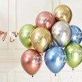 12 шт. в упаковке, 12 дюймов с днем рождения воздушные шары Декор из розового золота хром шары из латекса цвета металлик для детей 1st 30th День рож...