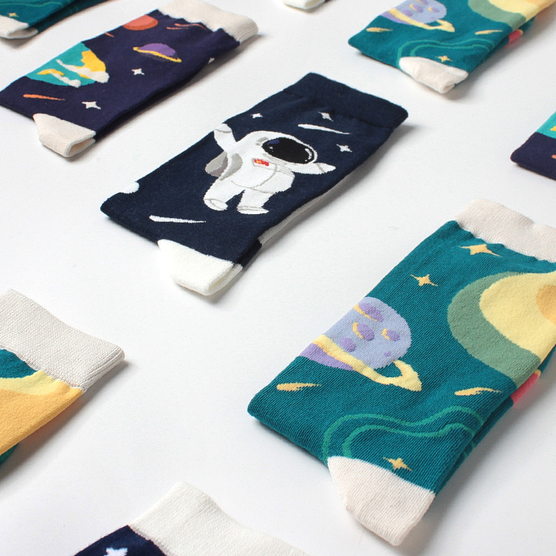 New Autumn And Winter Original Outer Space Tube Series Personality Star Tide Socks