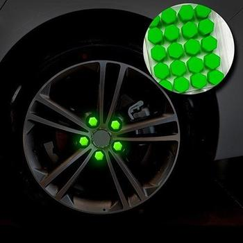 20 Pcs 19mm Silicone Car Wheel Nut Screw Cover Car Rims Exterior Bolt Caps image