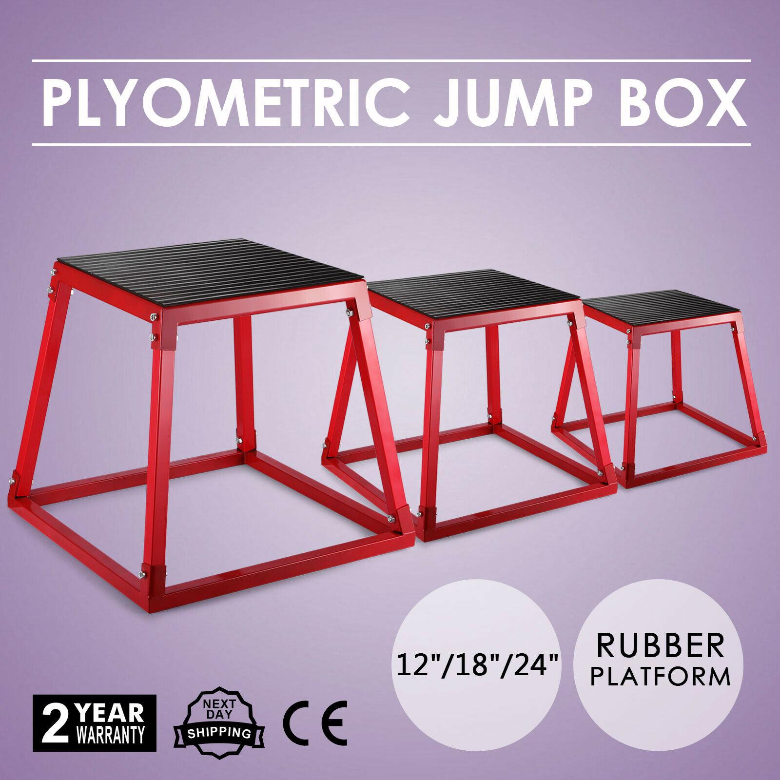 VEVOR Plyometric Boxes 12 Inch 18 Inch 24 Inch Plyometric Platform Jump Box Exercise