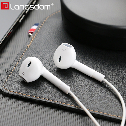 Langsdom Hifi Earphone In-ear Bass Headset with Mic Remote 3.5mm auriculares Earbuds for iPhone fone de ouvido Audifonos Mp3 Dj Pakistan