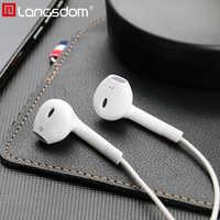 Langsdom Hifi Fone de Ouvido fone de Ouvido fone de Ouvido Baixo com Microfone Remoto 3.5 milímetros auriculares Fones de Ouvido para iPhone fone de ouvido Audifonos Mp3 dj