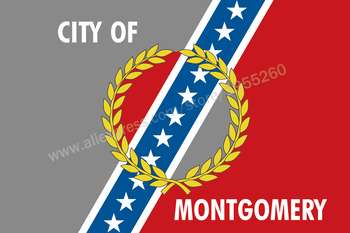 Alabama Montgomery Flag 3 x 5 FT 90 x 150 cm USA States City Flags Banners America image