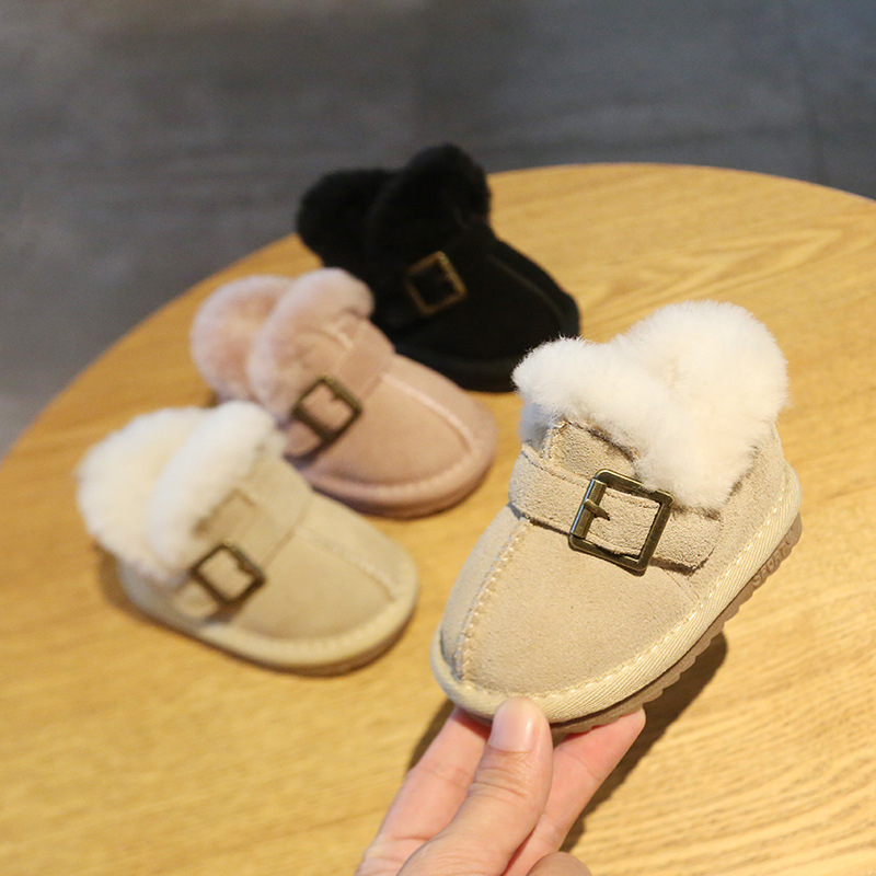 Baby Cotton Shoes Winter Baby Shoes 0-2 Years Old Soft Bottom Princess Snow Boots Children's Cotton Shoes
