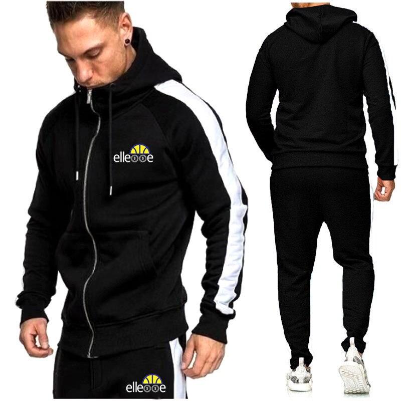 Brand 2019  BOS! Men Fashion Male Tracksuit Suit Long Sleeve Hoodies+Pants Sport Men's Gyms Comfortable Casual Sportswear Suit