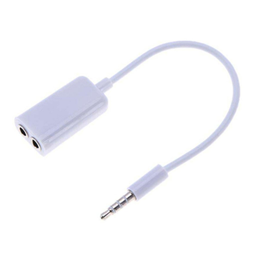 3.5mm Double Earphone Headphone Splitter Cable Cord Adapter Jack Plug Audio Cable Cellphone Accessories