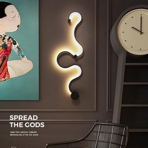 Image 5 - Wall light foyer led sconce snake shaped wall lamp ceiling lamps modern lustre wand lamp ceiling line light led fixtures living