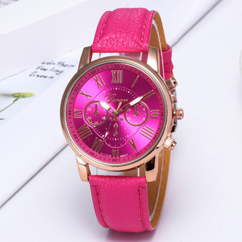 Luxury Designer Women Pink Watches Quartz Leather Unique Three Small Dial Dress Watch Casual Fashion Brand Wristwatch For Ladies guou brand watch luxury classic women watches fashion casual crystal leather ladies quartz wristwatch high quality dress watches