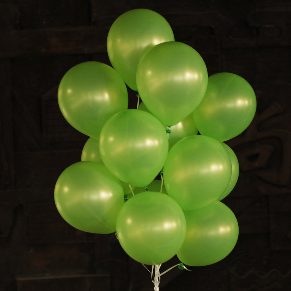 Latex Pearl Green Balloons Birthday Party Decorations Kids Supplies Forest Globos Helium Balloon