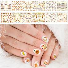 Miji Mila Nail Sticker Christmas Nails Fall Nail Sticker Set Nail Decal Nail Art Decorations DIY Maple Leaves Thanksgiving Day(China)