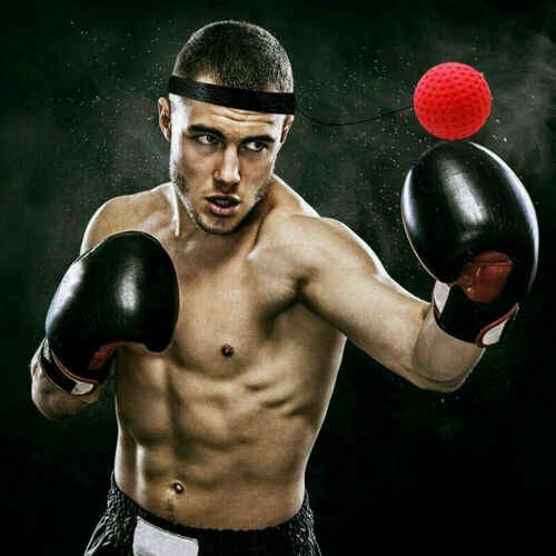 Boxing Punch Exercise Fight Ball Reflex Boxer Reaction Speed Training Headbands