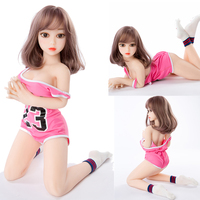 Realistic Soft TPE Mini Sex Doll 100cm Most Beautiful Adult Sex Toys For Men Metal Skeleton Standing Feet Free Shipping Doll