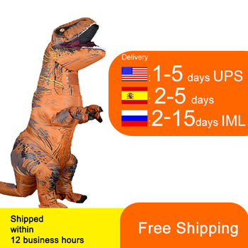 T Rex Velociraptor Inflatable  Costume Mascot Cosplay Dinosaur Dino Halloween For Women Men Kid - discount item  32% OFF Costumes & Accessories