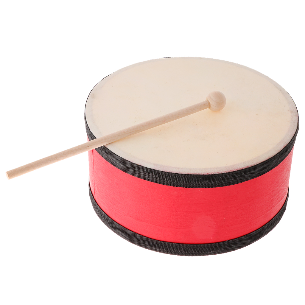 Hand Held Drum with Mallet, Rhythmic Percussion Instrument for Music Lovers or Beginners, Kids Children Music Toys