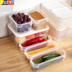 Uniwersalny pojemnik na jedzenie zdejmowany niezależny pojemnik przezroczysty PP zachowaj świeżość pudełko na żywność z zamkniętą pokrywką