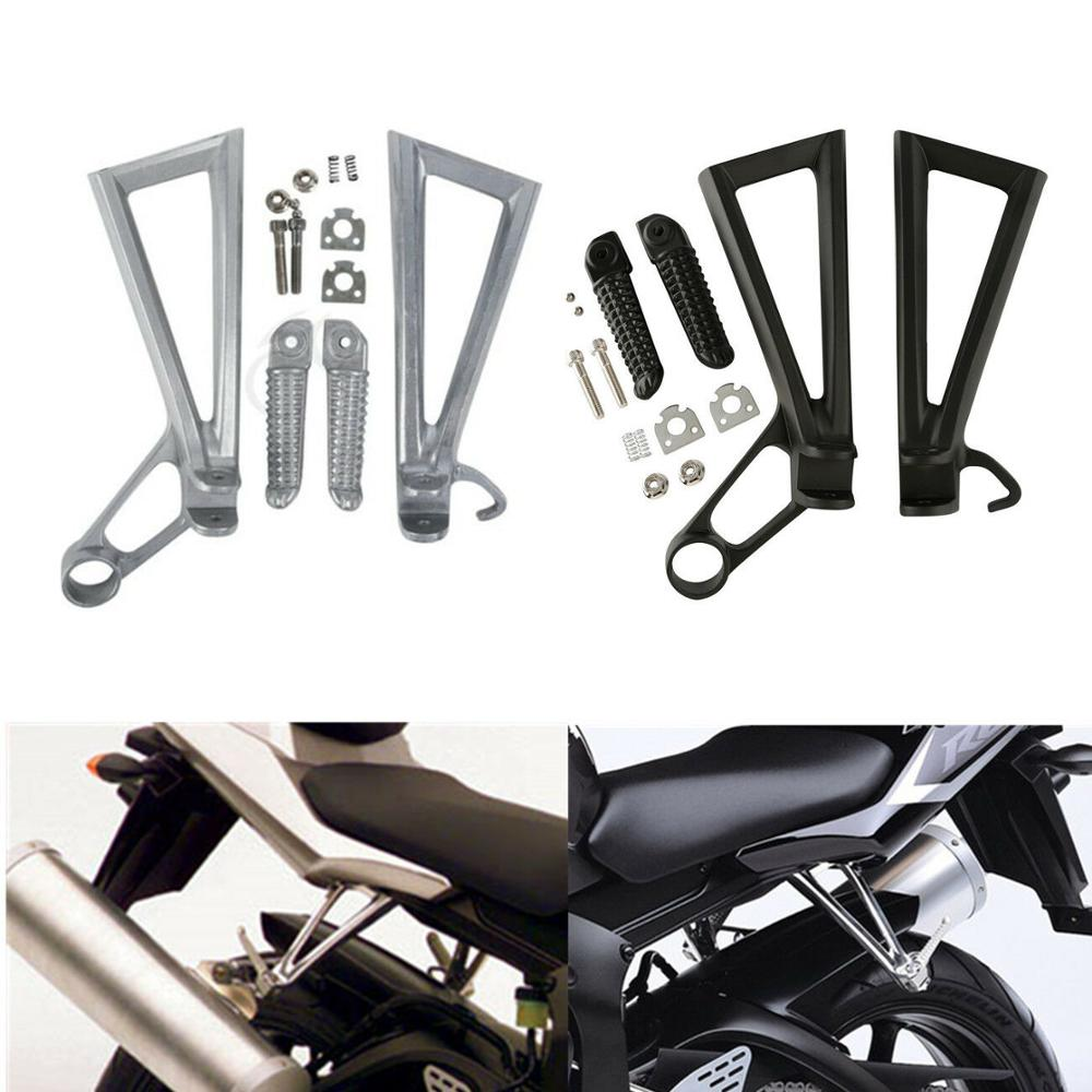 Motorcycle Rear Footrest Foot Pegs Brackets Set For Yamaha YZF R6 2003-2005 2004 R6S 2006-2009 2007 2008