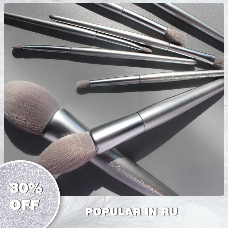 Panna Beauty Sliver 8pcs Makeup Brushes Set Blusher Powder Foundation Eyeshadow Professional Make Up Brushes Kit