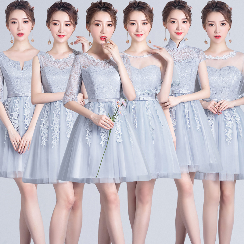 Burgundy Bridesmaid Dress Junior Guest Wedding Party Embroidery Tulle Sweetheart Short Party Dress Sister Elegant New Years Eve