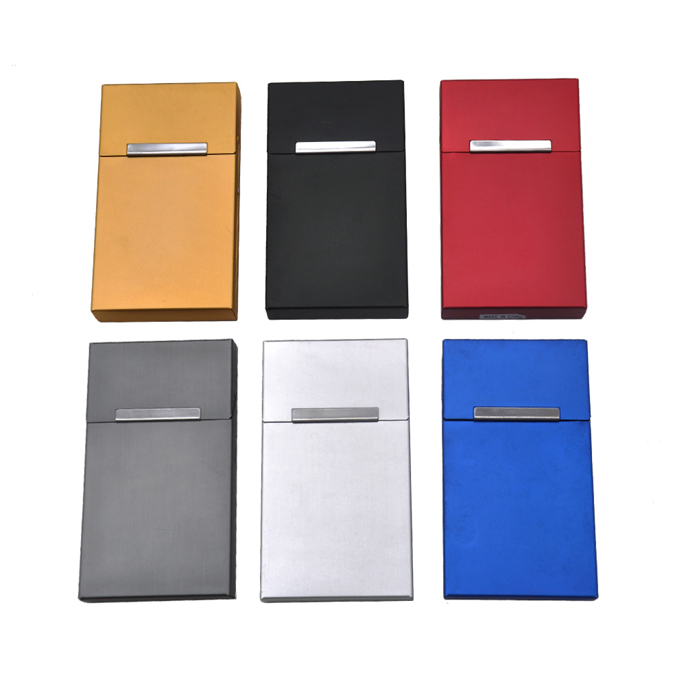Aluminum Ladies' Long Cigarette Case Cover 16MM*60MM*105MM For Thin Cigarettes Case Holder Hard Metal Tobacco Box Case Cover