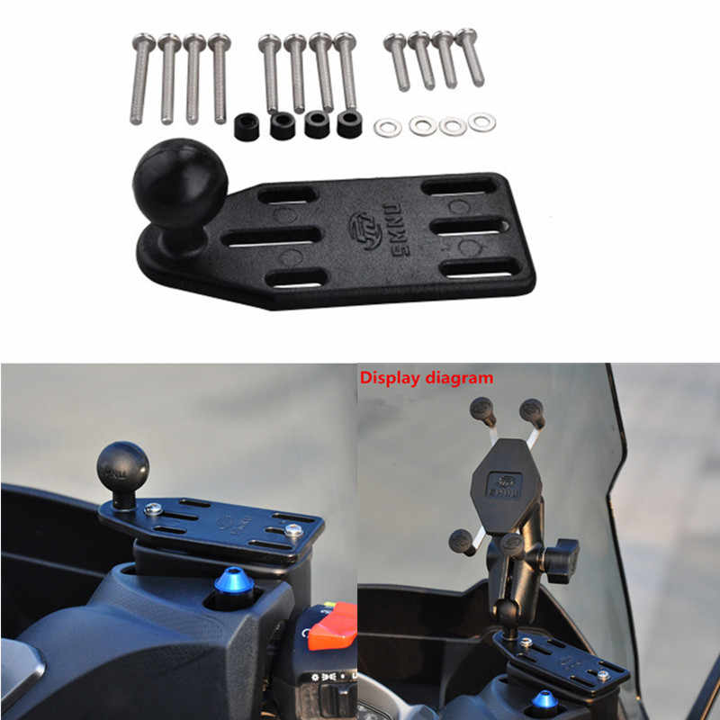 Moto Manubrio Freno Frizione di Base di Controllo Combo U Bullone di Montaggio con 1 inch Palla di Gomma di Montaggio per Ram per Gopro cam