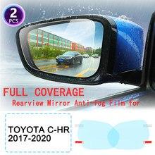DK – Film Anti-buée imperméable à la pluie pour rétroviseurs de voiture, autocollants pour Toyota C-HR CHR C HR 2017 2018 2020 2017 ~ 2020