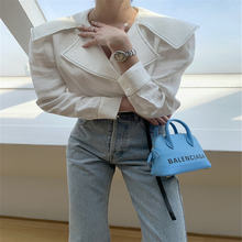 Корейская Милая винтажная Простая рубашка для женщин элегантная