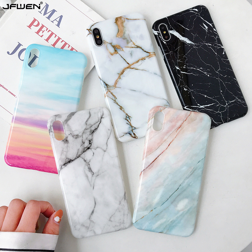Luxury Marble Phone Case For iPhone 7 8 X XS MAX XR Case For iPhone 7 6 6S 8 Plus Case Cover Coque Funda Soft TPU Silicone Cover