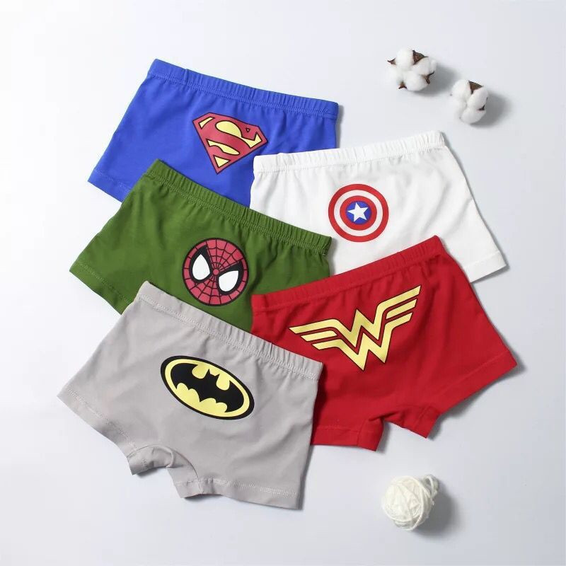 Kids Boys Underwear For Boys Panties Cartoon Children's Shorts Panties For Baby Boy Boxers Stripes Teenager Underpants