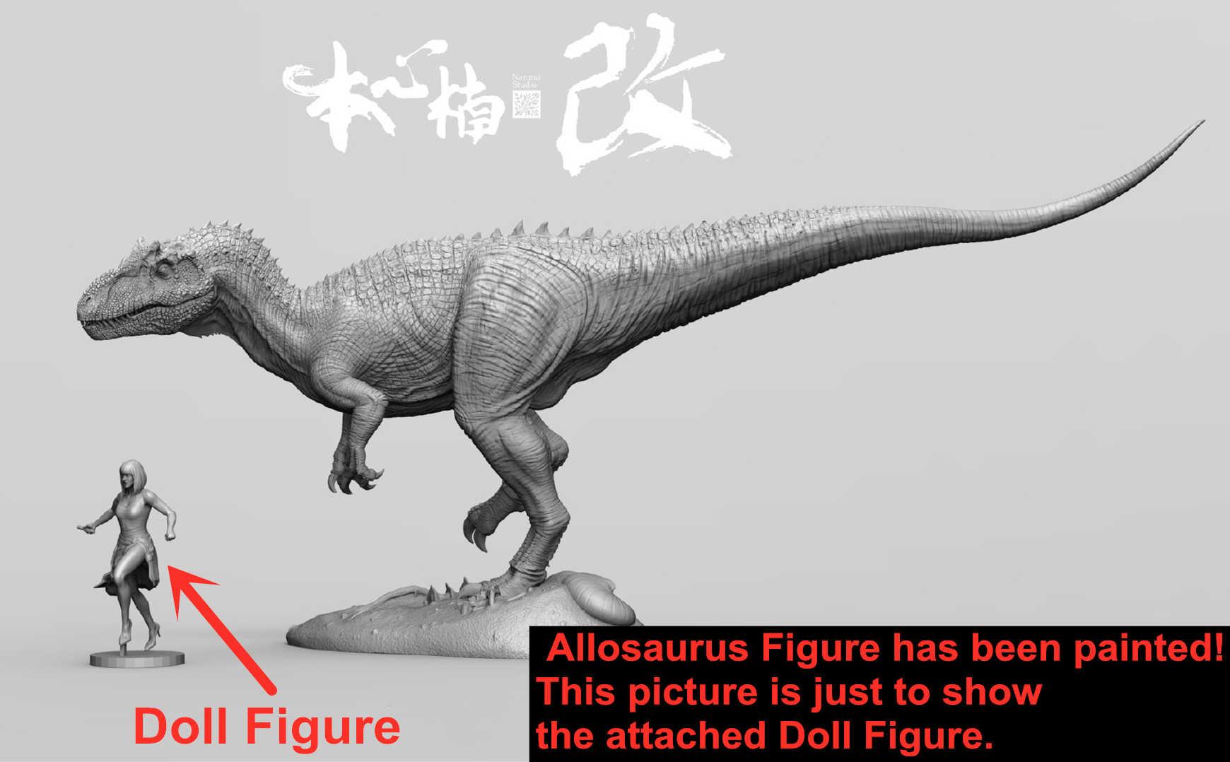 IN STOCK! Nanmu 1/35 Allosaurus Figure Blade Dinosaur ...