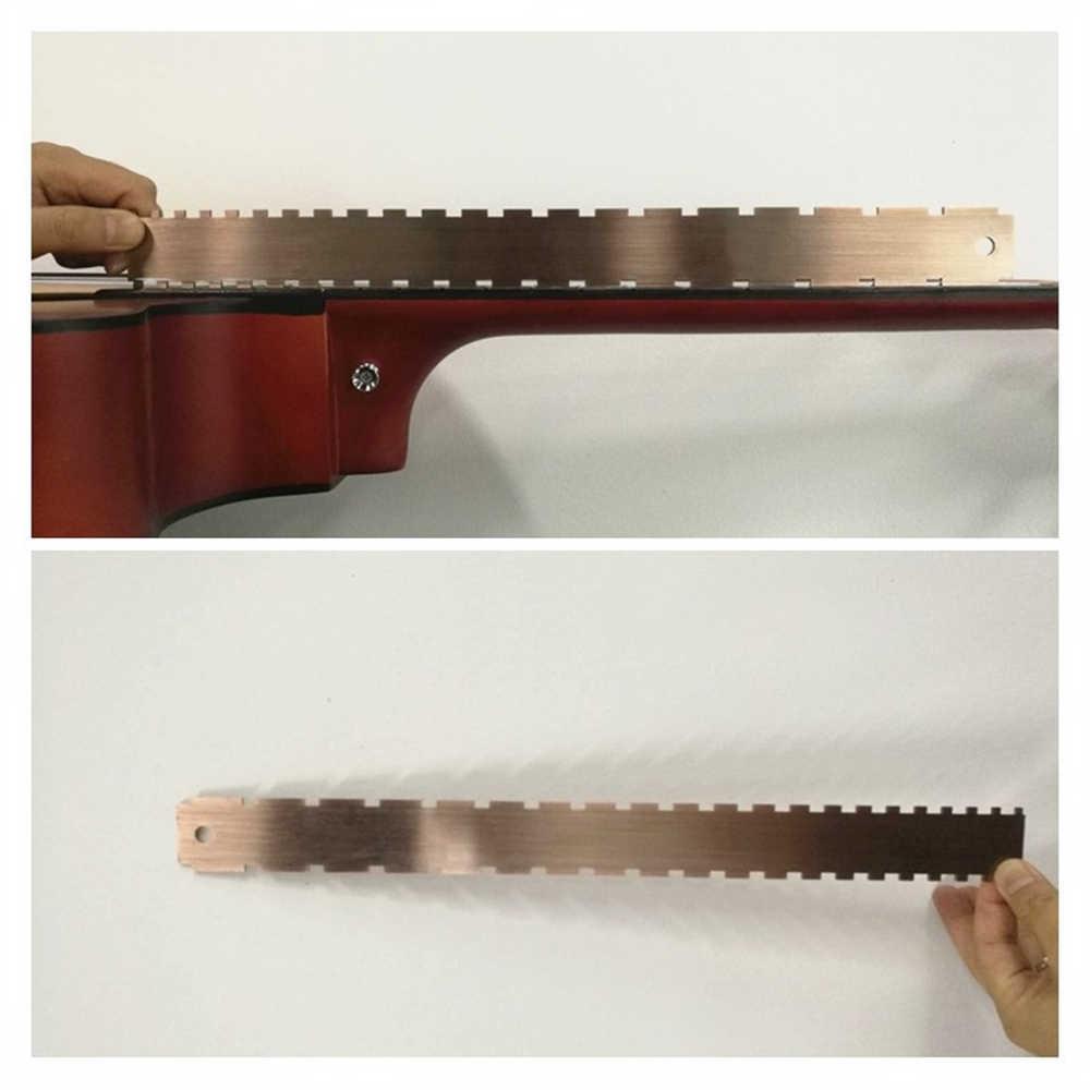 الفولاذ المقاوم للصدأ الغيتار الرقبة حقق حافة مستقيمة المزدوج مقياس قياس الحنق حاكم ل اللوثيرز قياس الحنق مجلس
