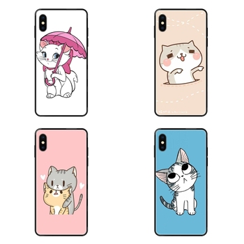 Black Soft TPU Fashion Original Colours The Cartoon AristoCats Marie Cats For Redmi 3S 4X 4A 5 5A 6 6A 7 7A 8 8A 8T 9 9A K20 image