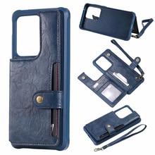 Haissky レトロフリップレザーケース電話ケース S9 S8 プラスカードホルダースタンド三星 S8 S9 プラス財布ケース
