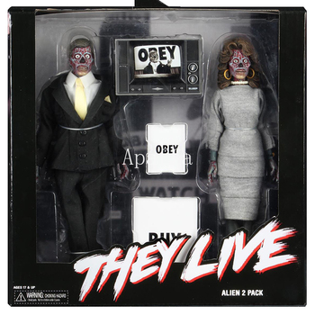 8 NECA THEY LIVE Retro Clothed Movable 2 Pack Alien Action Figures Collectible Model Toy Gift batman the joker action figures 1 12 with real clothing mezco movable model toy