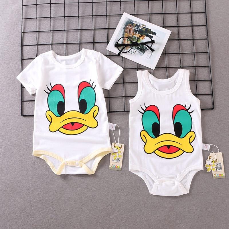 Cartoon Disney Donald Duck Angry Face Newborn Jumpsuit Baby Romper Bodysuit Sets