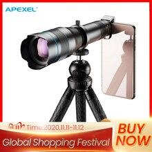 APEXEL HD 60X معدن عدسة مجهر كاميرا الهاتف سوبر تليفوتوغرافي أحادي + تمديد ترايبود آيفون هواوي جميع الهواتف الذكية