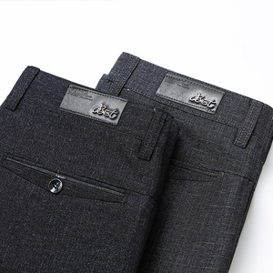 Image 4 - Classic Style Mens Straight Casual Pants 2019 New Modal Fabric Business Dark Grey Free Hot Stretch Brand Trousers