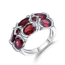 Wedding-Ring Garnet Gem's-Ballet Gemstone Fine-Bijouterie Natural Women Mona Silver