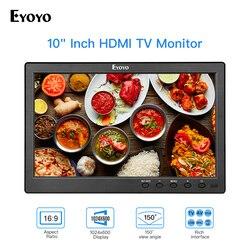 Eyoyo 10 pulgadas de TV IPS Monitor HDMI 1024x600 pantalla LCD con pantalla HDMI USB VGA AV Control remoto para DVD PC de seguridad CCTV pantalla
