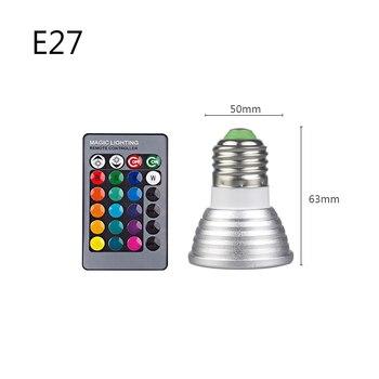 E27 E14 RGB Led Bulb 3W 5W 10W 15W Dimmable 16 Color Changing Magic Bulb Gu10  AC 220V 110V RGB White IR Remote  Night Light C3 8