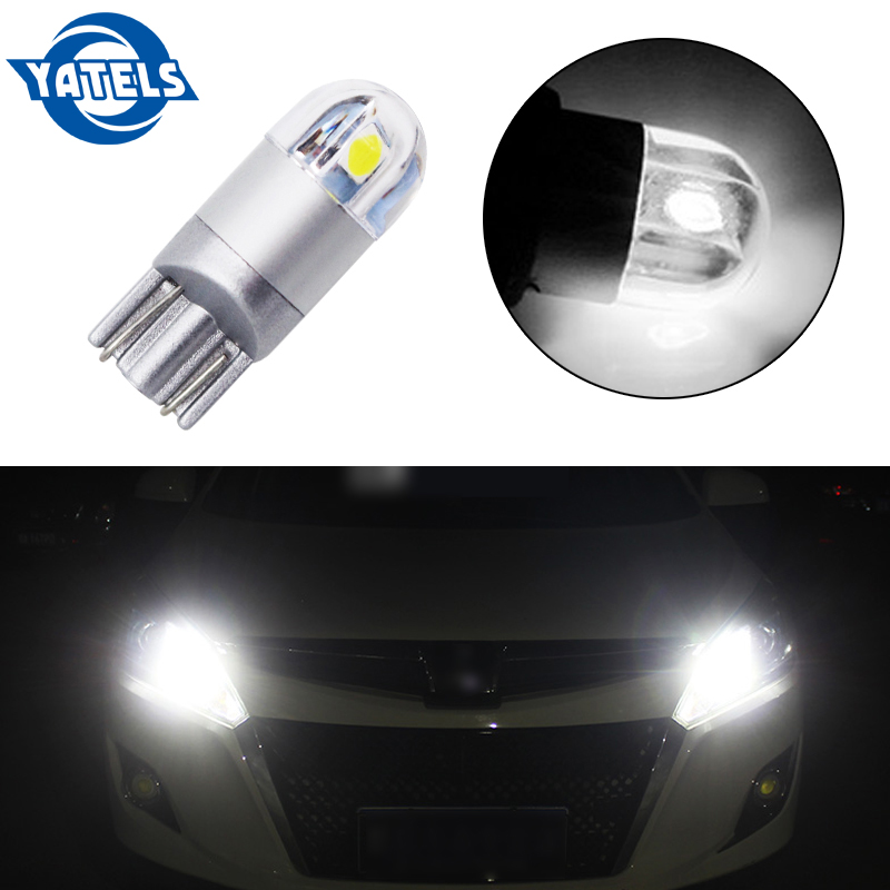 1Pcs T10 LED Bulbs White 168 501 W5W LED Lamp T10 Wedge 3030 2SMD Interior Lights 12V  6000K Red Yellow Ice Blue Car Styling