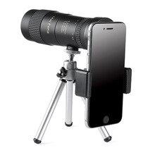 8-40x40 монокулярный телескоп компактный выдвижной зум водонепроницаемый профессиональный HD ED Стекло со штативом зажимом для телефона