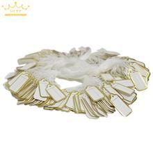 100 шт. ценники для ювелирных изделий с серебряной нитью, этикетка для одежды