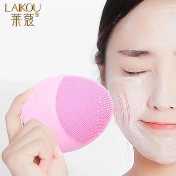 LAIKOU-silikonowa szczoteczka do twarzy elektryczna środek oczyszczający urządzenie głęboko myjąca szczotka do masażu tanie i dobre opinie Jedna jednostka Pianka do mycia twarzy Unisex CN (pochodzenie) jm435 As The Show Standard US CHINA GZZZ ygzwbz ddjm2564